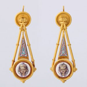 Pair of Micro Mosaic Earrings