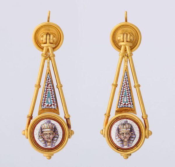 Pair of Micro Mosaic Earrings