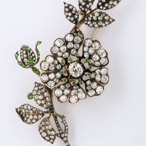 Victorian Diamond Spray Brooch