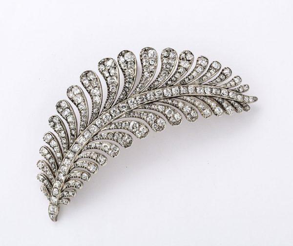 Late - Georgian Diamond Fern Brooch