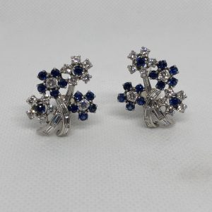 American Floral Motif Earrings