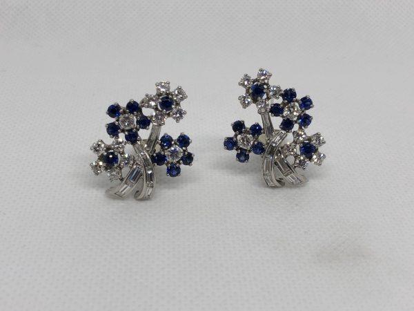 American Floral Motif Earrings