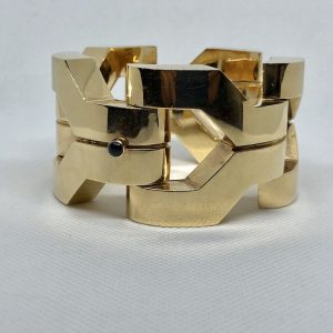 American 14Kt Gold Bracelet With Sapphire Clasp