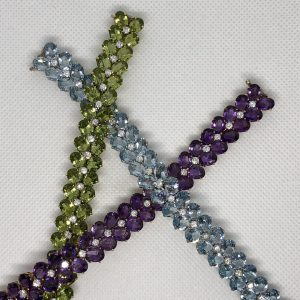 Three American Julius Cohen Bracelets