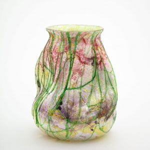 Victorian Period Multi-colored 'Silveria' Glass Vase