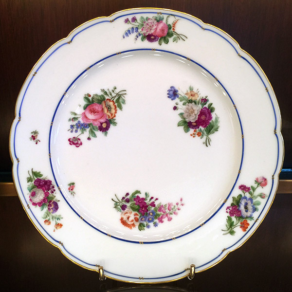 Louis Phillippe period set of twelve porcelain plates