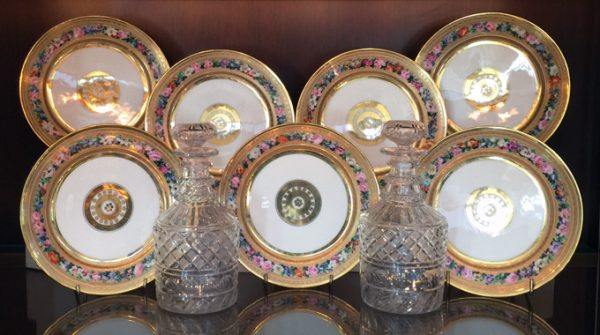 Louis Philippe Period – Set of Twelve Porcelain Plates Full Set