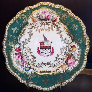 George IV Period – Set of Armorial Porcelain Plates Single