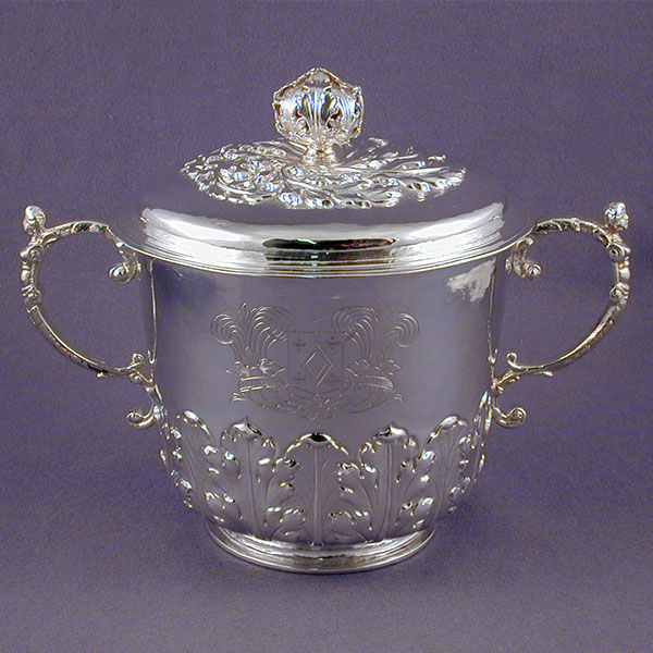 James II Period Porringer and Cover